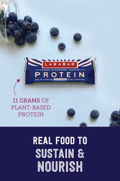 NEW LÄRABAR Protein snacks are packed with 11 grams of plant-based protein from peas and nuts, making it the perfect way to fuel up or fight off hunger while satisfying those taste cravings. Try it today! Lemon Blueberry Muffins, Blue Berry Muffins, Cooking Classes For Kids, Cooking With Kids, Protein Snacks, Protein Bars, Sweet Tea Recipes, Halibut Recipes, Lara Bars