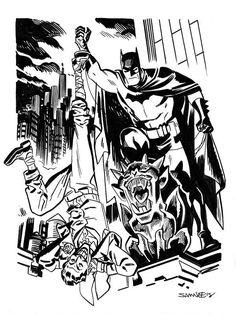 Comic Book Artists, Comic Artist, Comic Books Art, Batman Art, Batman And Superman, Superhero Art Projects, Dc Comics, Final Fantasy Cloud, Black And White Comics