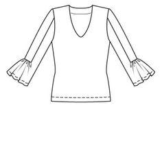 Пуловер - выкройка № 106 B из журнала 1/2009 Burda – выкройки пуловеров на Burdastyle.ru