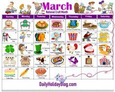 march holiday calendar 2015