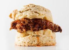 Fried Chicken Biscuit Recipe, Chicken And Biscuits, Chicken Recipes, Pies And Thighs, Man Food, Fries In The Oven, Lemon Chicken, Breakfast Recipes, Breakfast Casserole