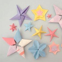 A galaxy of origami stars #craftgawker