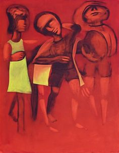 Charles Blackman ~ Children Playing, 1968 Arthur Boyd, Modern Artists, Australian Artists, Paintings, Gallery, Children, Historia, Pictures, Young Children