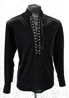 MARQUIS SHIRT - BLACK VELVET from Shrine Clothing.