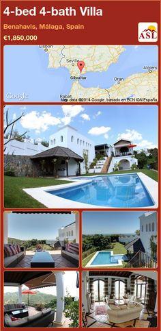 4-bed 4-bath Villa in Benahavis, Málaga, Spain ►€1,850,000 #PropertyForSaleInSpain
