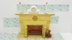 Marx Little Hostess Fire Place Furniture hard plastic Hearth fireplace