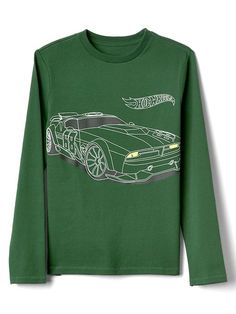 Gap Boys Gapkids | Hot Wheels© Long Sleeve Tee Festivus Green