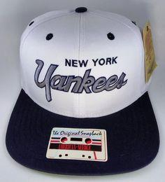 a7efeeac46f Vintage American Needle New York Yankees MLB Baseball Adjustable Snapback Hat  Cap