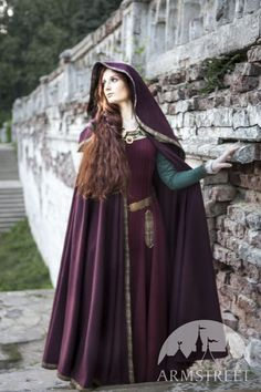 Lots of medeival wear!!! Hooded Cloak