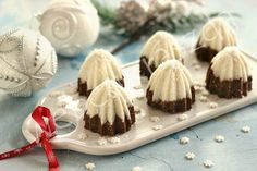 undefined Christmas Sweets, Christmas Goodies, Christmas Baking, Catering, Panna Cotta, Cheesecake, Food And Drink, Nutella, Pudding