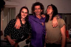 Mike McCready, Keith Richards and Eddie Vedder. I can tell that McCready was soiling himself.