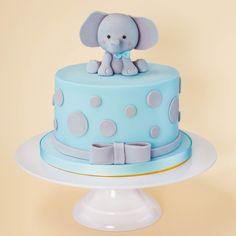 26+ Best Image of 1St Birthday Elephant Cake . 1St Birthday Elephant Cake Ba Blue Elephant Cake Logans 1st Birthday Pinterest Ba  #1St #Birthday #Cake #Elephant  #birthdaycakediy
