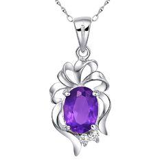 1//6 Carat CTW Améthyste Infinity Boucles d/'oreilles avec diamants en argent sterling