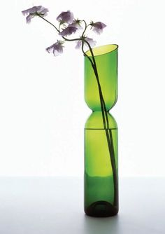 Wine bottles cut into vases
