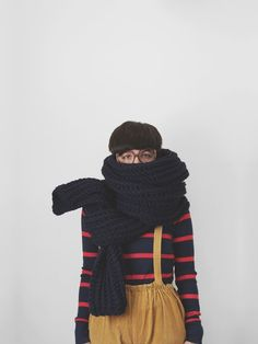 The Snow Leopard in Navy by Yokoo on Etsy  love the feeling to be wrap up with a warm scarf...