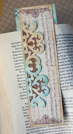bookmark- use cool looking paper (scrapbook paper at hobby lobby)