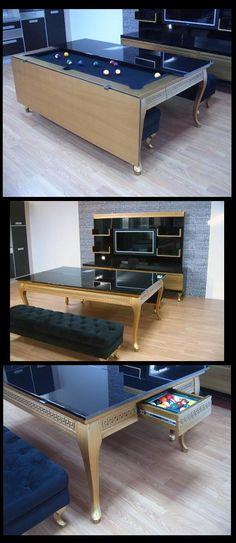 Modern Dinning Table with Billiard Function - Signed Koraltürk Billiard Factory
