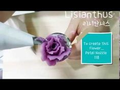 앙금플라워 리시안셔스 꽃짜기 lisianthus♡bean paste flower piping techniques - YouTube