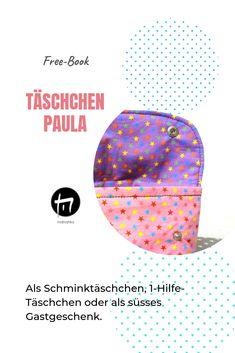 Täschchen nähen, Schminktäschchen, 1-Hilfe Täschchen, Schnittmuster Täschchen, DIY Freebies, Chart, Design, Bag Tutorials, Tips, Presents, Ideas
