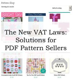 VAT solutions for PDF sellers from Blossom Heart Quilts