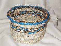 Koszyk z warkoczem. Basket completed braid.