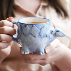 Sip your favourite hot drink from this fun and colourful Stegosaurus dinosaur mug from House of Disaster! A wonderful way to enjoy a morning coffee, or a delicious hot chocolate, adults and kids alik. Dinosaur Mug, Dinosaur Gifts, Best Friend Mug, Friend Mugs, Tea Mugs, Coffee Mugs, Clay Cup, Ceramic Mugs, Ceramic Pottery