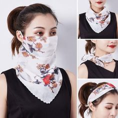 🎁Gift ideas for the coming mother's day💕 - ☀Sun protection ➕ protective printed silk scarf💕 La mejor imagen sobre decoracion de interio - Easy Face Masks, Diy Face Mask, Estilo Fashion, Ideias Fashion, Boutique Style, Pullover Upcycling, Fashion Face Mask, Diy Mask, Mask Making