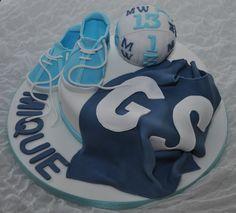 Netball/basketball Cake cakepins.com