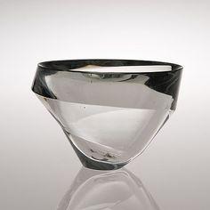 """ollebosse: """" Tapio Virkkala - Glass vase """"Kierre"""" (""""Whirl"""") 3276/3876. Sign. Tapio Wirkkala, Iittala. Mid 1950's """""""