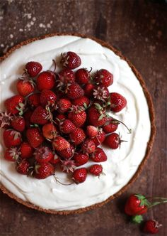 .strawberries and cream tart by theclevercarrot