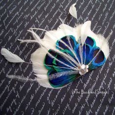 Bridal Feather Fascinator - For the Peacock themed wedding <3