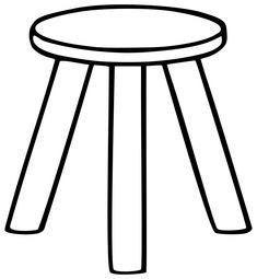 Three Legged Stool Outline Free Vector