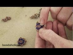 How to Bead Weave a Decorative Edge Around a Spacer Bead with Loop