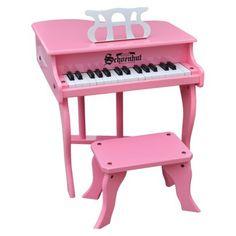 Schoenhut Fancy Baby Grand Piano - Pink