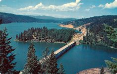 Coeur D Alene Lake Temperature | Postcard: Blue Creek Bay Bridge on Lake Coeur d'Alene, Idaho | Flickr ...