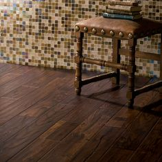 wood tile floor saw these on the property brothers what a great idea