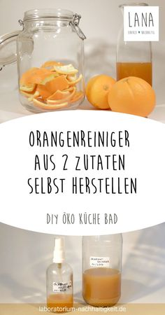 Make your own orange cleaner from just two ingredients - make a super simple recipe yourself - super simple recipe - Orange cleaner from only two ingredients Live sustainably. Orange cleaner from only two ingredients - Diy Home Cleaning, Cleaning Hacks, Toilet Cleaning, Orange Cleaner, No Waste, Orange Recipes, Cleaners Homemade, Diy Beauty, Super Easy