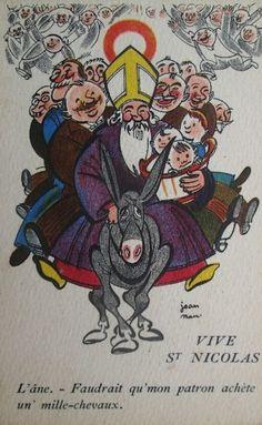 Ancienne carte illustrée : Vive St Nicolas