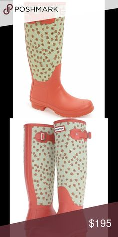 JUST IN!  Hunter Tall Festival Floral Rain Boots Adorable Hunter Original Tall Festival Floral Rain Boot in Sunset-Grey-Pistachio- Floral.  Comfortable fit that features the Original calendered outsole and logo-stamped buckle detail at the topline.  New in box. Hunter Boots Shoes Winter & Rain Boots