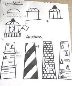 BluemoonPalette: Lighthouse Art lesson... ideas for sweatshirt jacket?