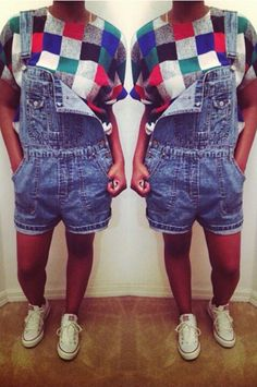I love overalls! | Vintage blouse - thrifted | Overalls - thrifted | Shoes - Converse | Follow @joyymeetsworld on Instagram for more fashion inspirations!