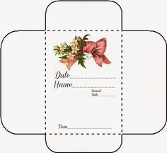 Free Printable Seed Envelope / Packets If this pin does not take you directly to glenda-jsworld., PLEASE LEAVE A COMMENT. Templates Printable Free, Printable Paper, Free Printables, Envelope Templates, Floral Printables, Printable Tags, Journal Entries, Journal Pages, Junk Journal