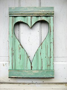 Reclaimed wood heart.