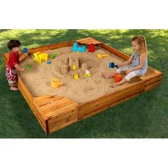 Hide small toys in sandbox - kids dig to find them (buried treasure)