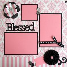 Blessed premade 12x12 scrapbook page girl by lovethatscrap on Etsy, $8.00