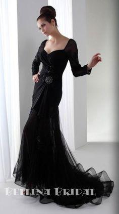 black wedding dresses   The Little Black Wedding Dress by bellinabridal on Etsy