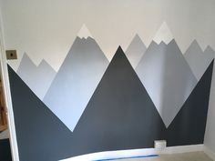 Finished mountain mural for Charlie& room. - Conrad room-Building a home - Finished mountain mural for Charlie& room. Boy Toddler Bedroom, Toddler Rooms, Baby Boy Rooms, Kids Bedroom, Baby Room, Bedroom Decor, Mountain Bedroom, Mountain Mural, Cool Bedrooms For Boys