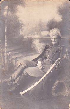 WWI Imperial Russian Army officer with sword.   .picclick.com