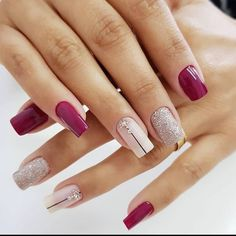 Gorgeous Nails, Love Nails, Pretty Nails, Fall Nail Art Designs, Nail Polish Designs, Classic Nails, Short Nails Art, Dry Nails, Manicure E Pedicure