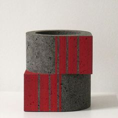 Wim Borst; Glazed and Unglazed Ceramic 'Counterpoint' Vessel, 2009.